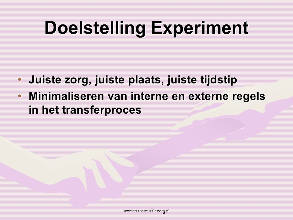 Doelstelling Experiment