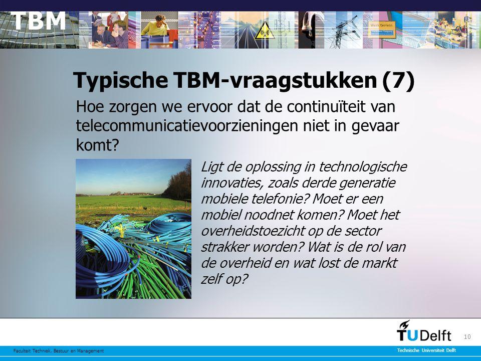Typische TBM-vraagstukken (7)