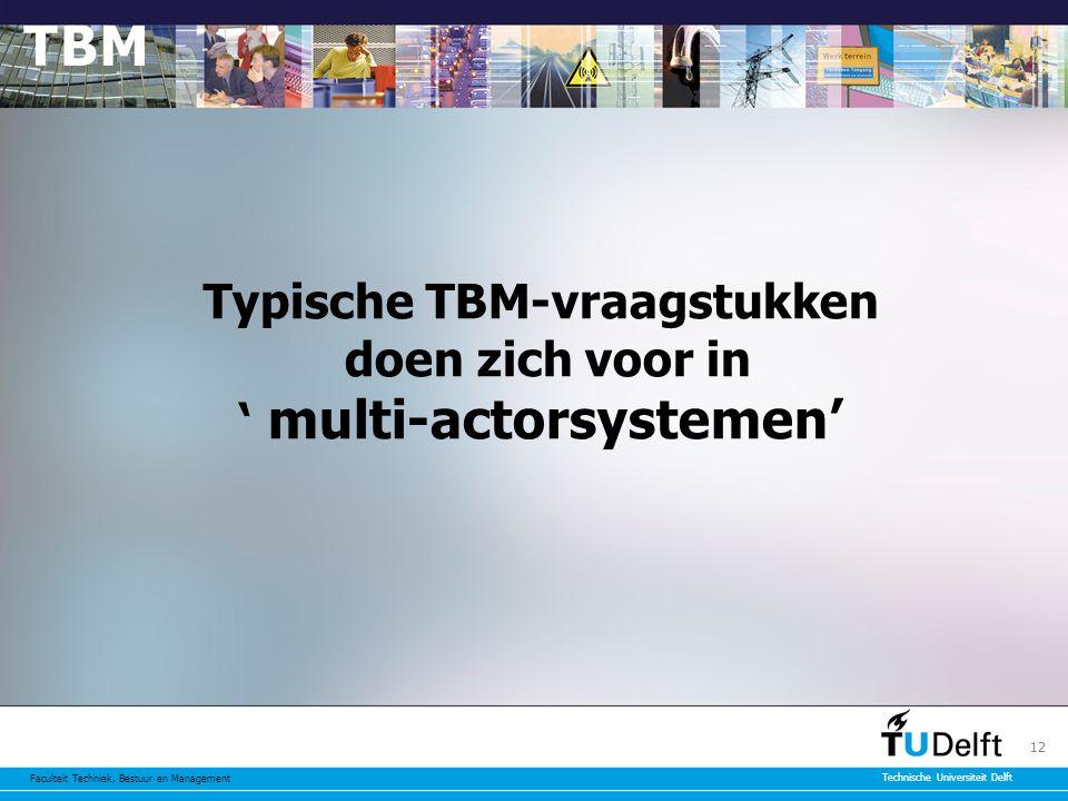 Typische TBM-vraagstukken doen zich voor in ' multi-actorsystemen'
