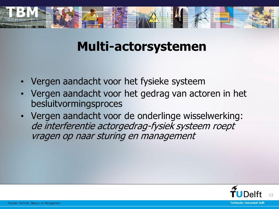 Multi-actorsystemen Vergen aandacht voor het fysieke systeem