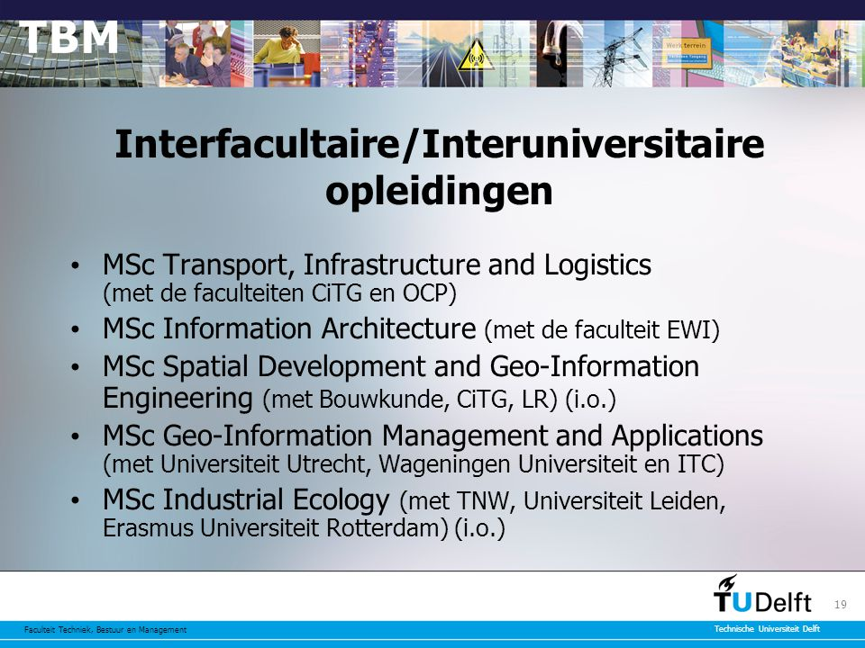 Interfacultaire/Interuniversitaire opleidingen