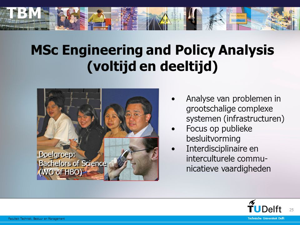 MSc Engineering and Policy Analysis (voltijd en deeltijd)