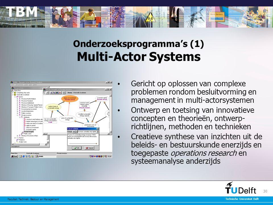 Onderzoeksprogramma's (1) Multi-Actor Systems