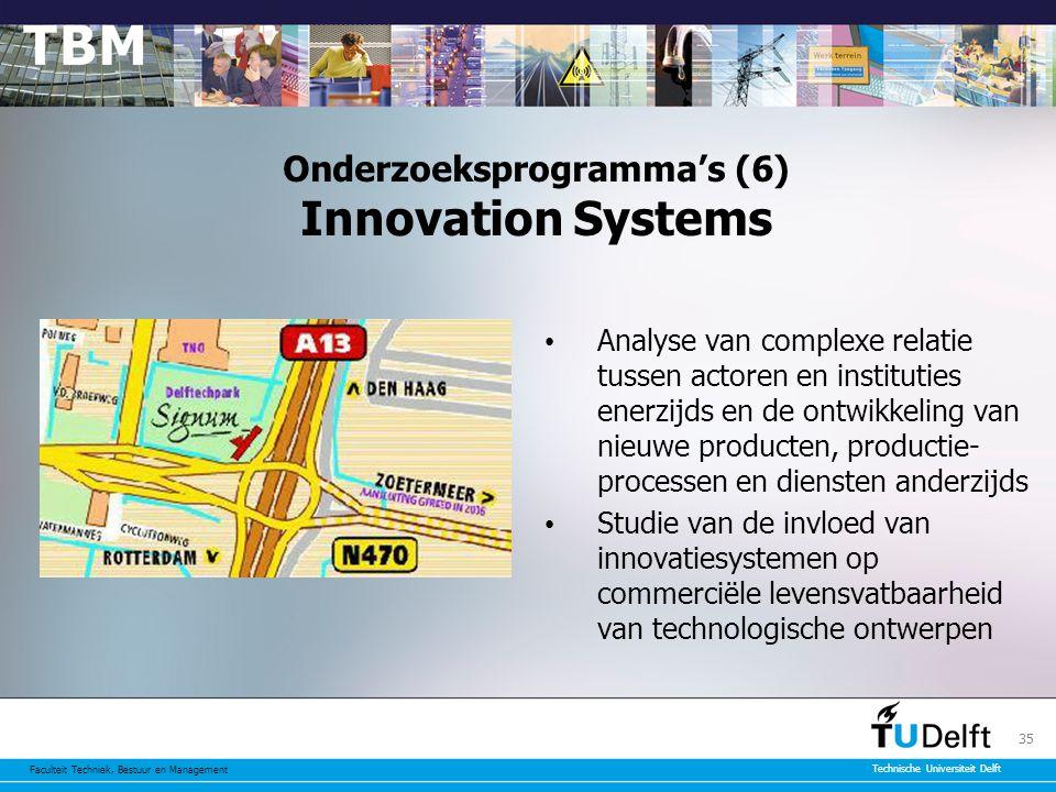 Onderzoeksprogramma's (6) Innovation Systems