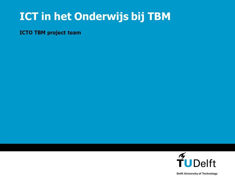 ICT in het Onderwijs bij TBM