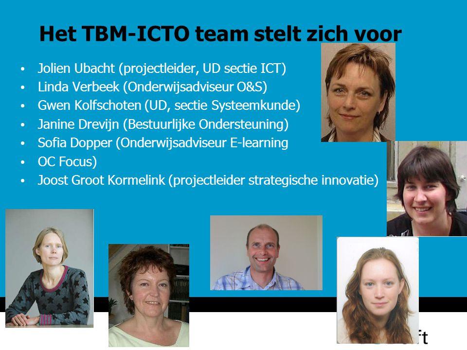 Het TBM-ICTO team stelt zich voor
