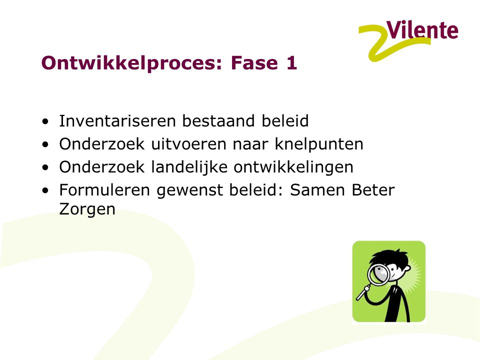 Ontwikkelproces: Fase 1