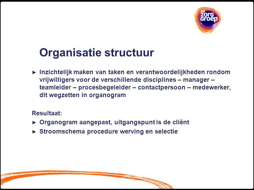 Organisatie structuur
