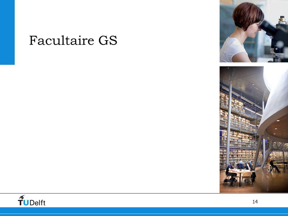 Facultaire GS Kwaliteit van het proces van het promotietraject verbeteren en stroomlijnen van het promotieproces.