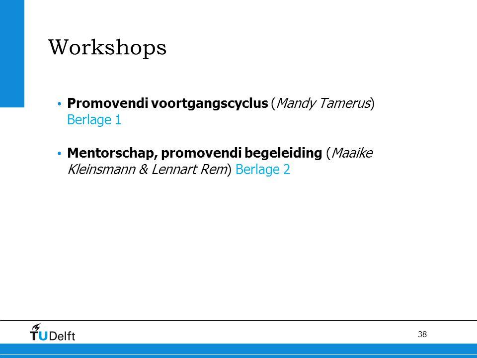 Workshops Promovendi voortgangscyclus (Mandy Tamerus) Berlage 1