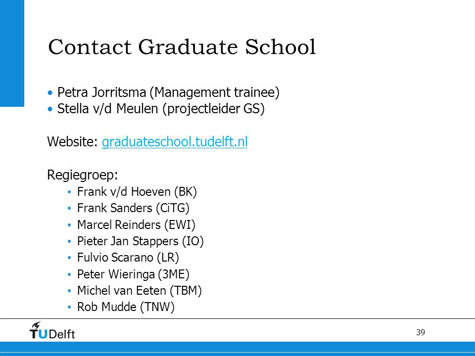 Contact Graduate School