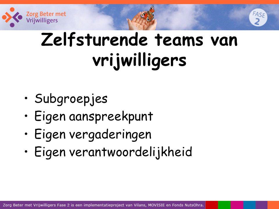 Zelfsturende teams van vrijwilligers