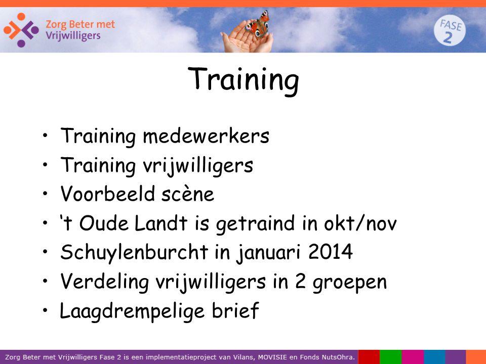 Training Training medewerkers Training vrijwilligers Voorbeeld scène