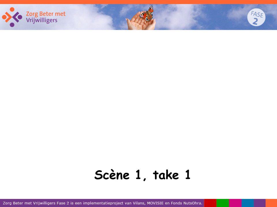 Scène 1, take 1