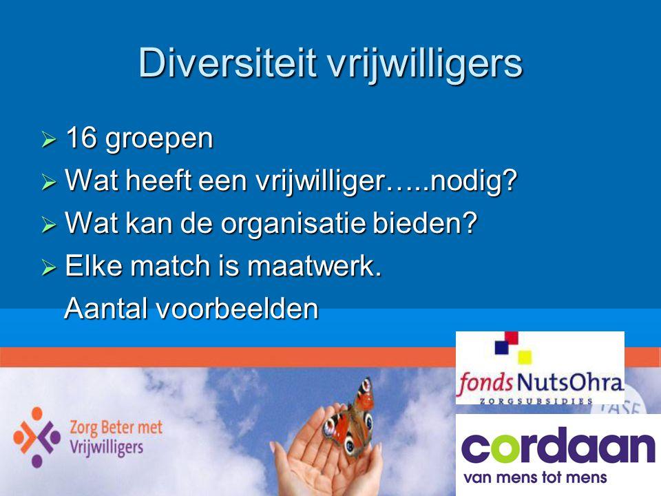 Diversiteit vrijwilligers