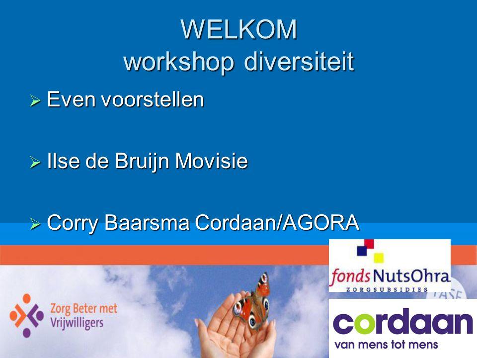 WELKOM workshop diversiteit