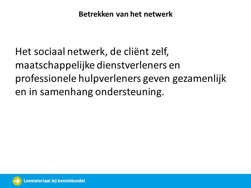 Betrekken van het netwerk