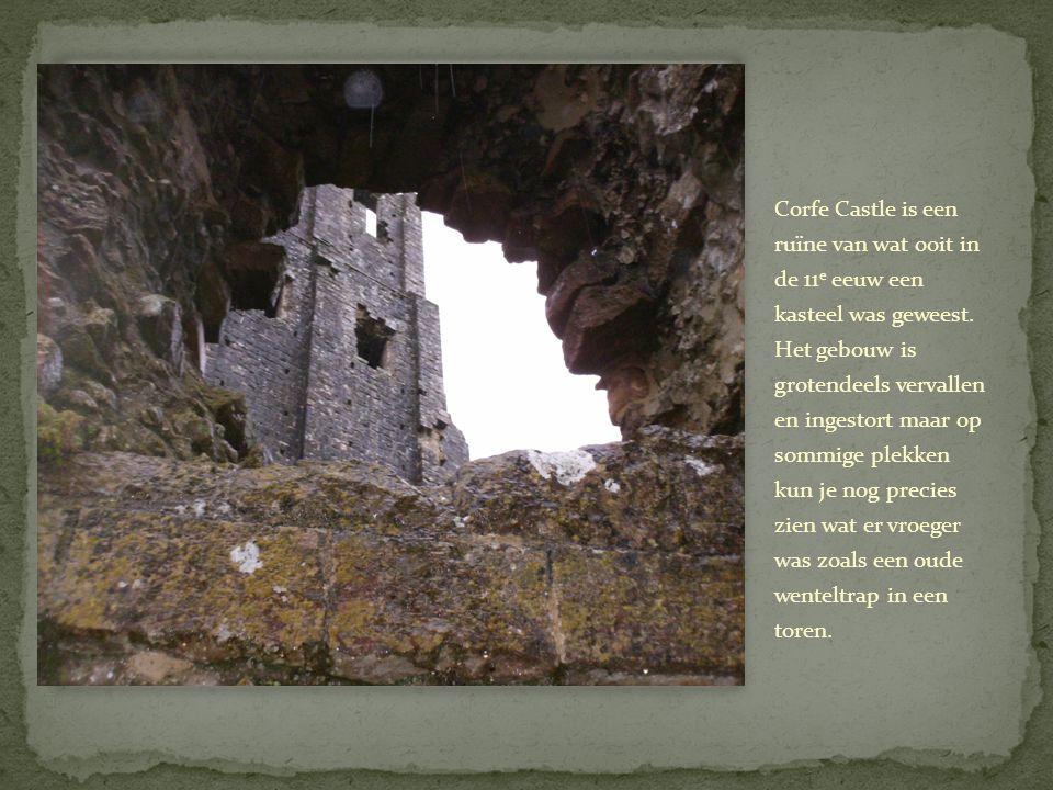 Corfe Castle is een ruïne van wat ooit in de 11e eeuw een kasteel was geweest.