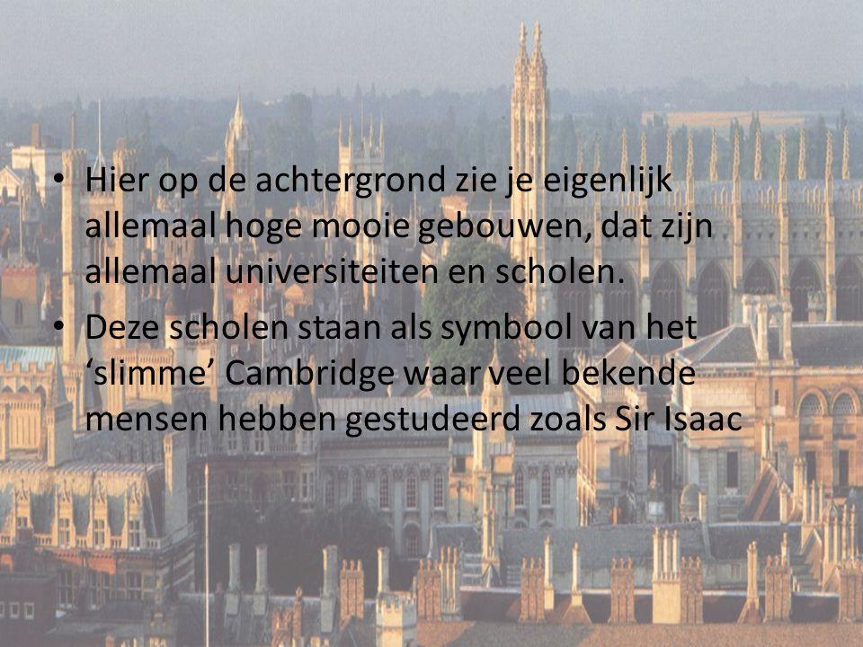 Hier op de achtergrond zie je eigenlijk allemaal hoge mooie gebouwen, dat zijn allemaal universiteiten en scholen.