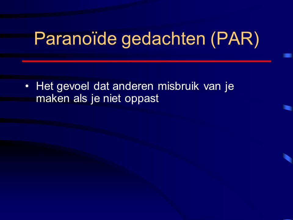 Paranoïde gedachten (PAR)