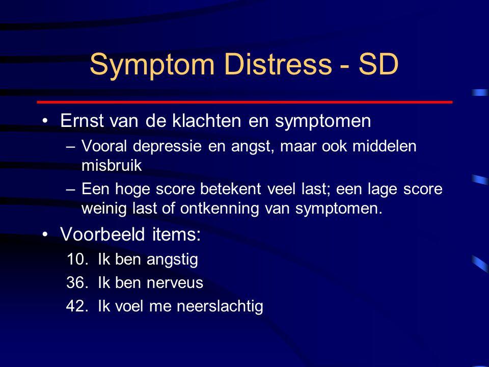 Symptom Distress - SD Ernst van de klachten en symptomen