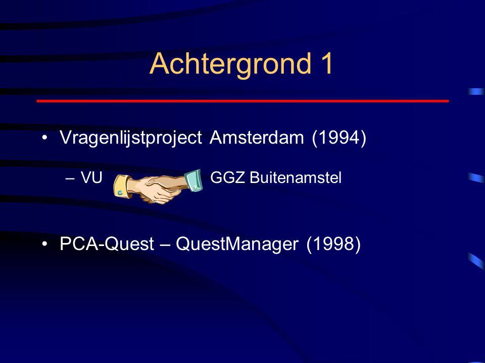 Achtergrond 1 Vragenlijstproject Amsterdam (1994)
