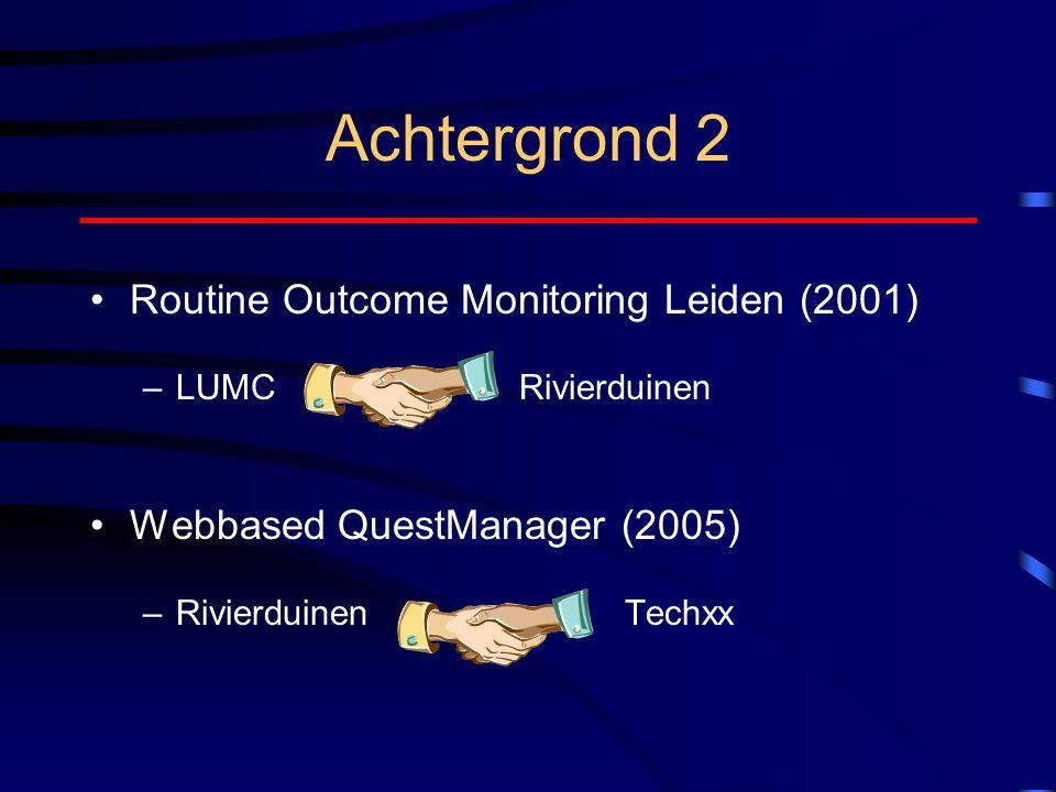 Achtergrond 2 Routine Outcome Monitoring Leiden (2001)