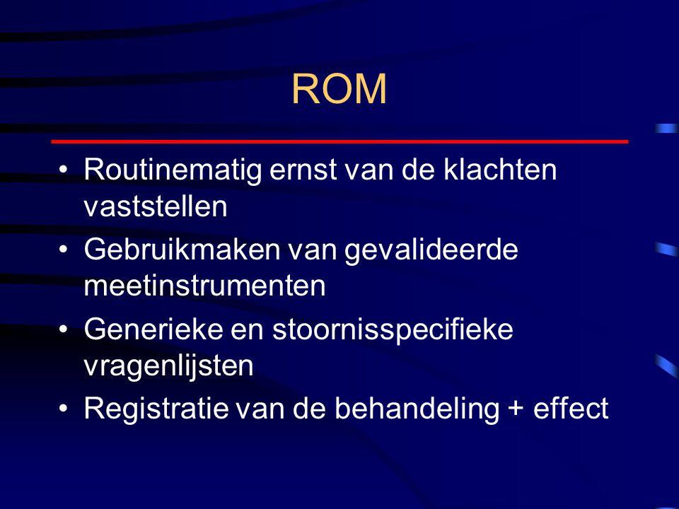 ROM Routinematig ernst van de klachten vaststellen