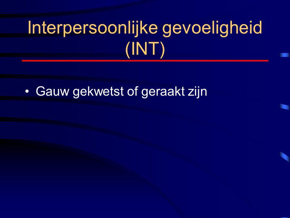 Interpersoonlijke gevoeligheid (INT)