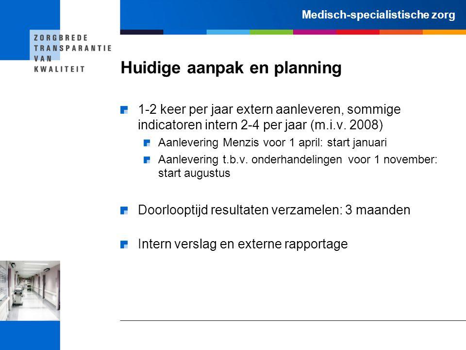 Huidige aanpak en planning