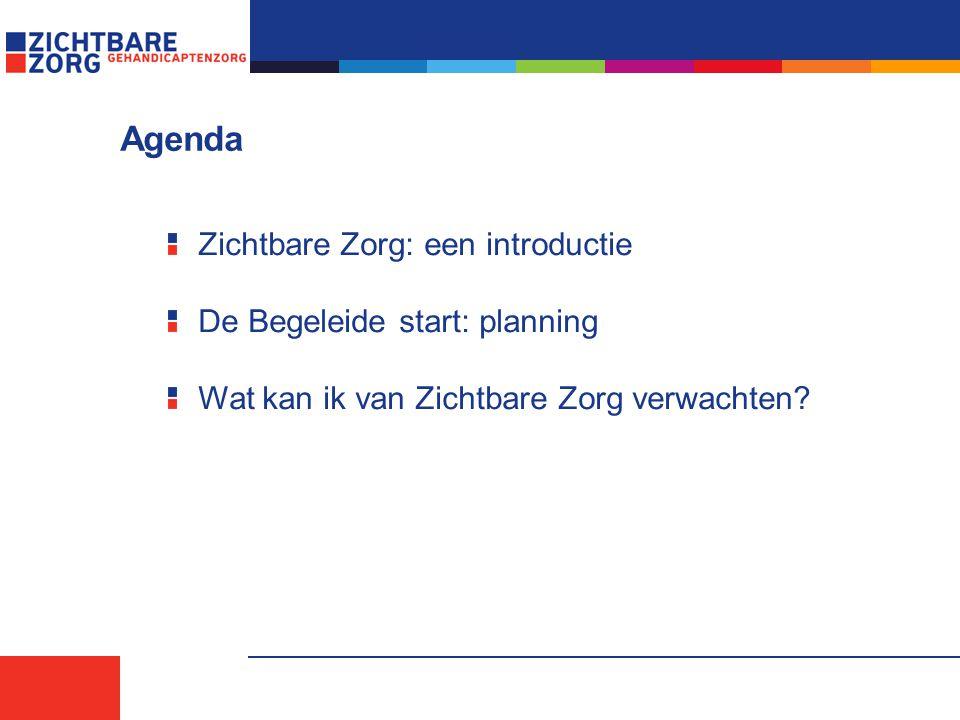 Agenda Zichtbare Zorg: een introductie De Begeleide start: planning
