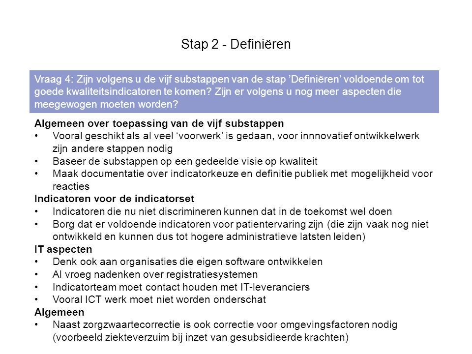 Stap 2 - Definiëren
