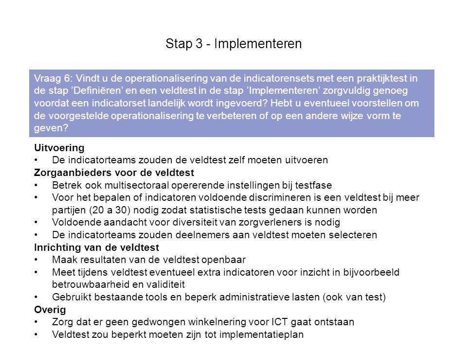 Stap 3 - Implementeren