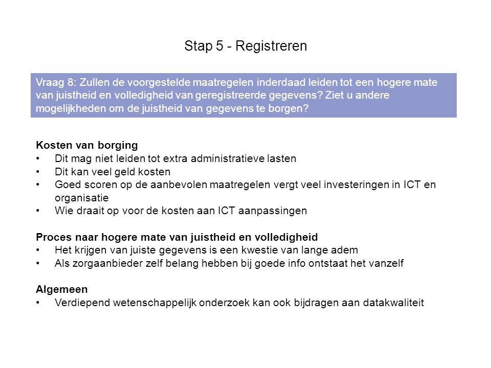 Stap 5 - Registreren