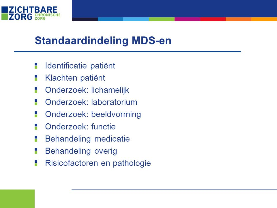 Standaardindeling MDS-en