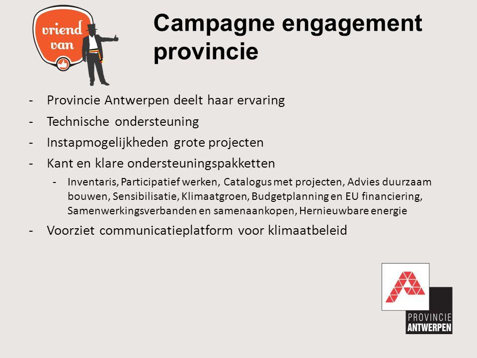 Campagne engagement provincie