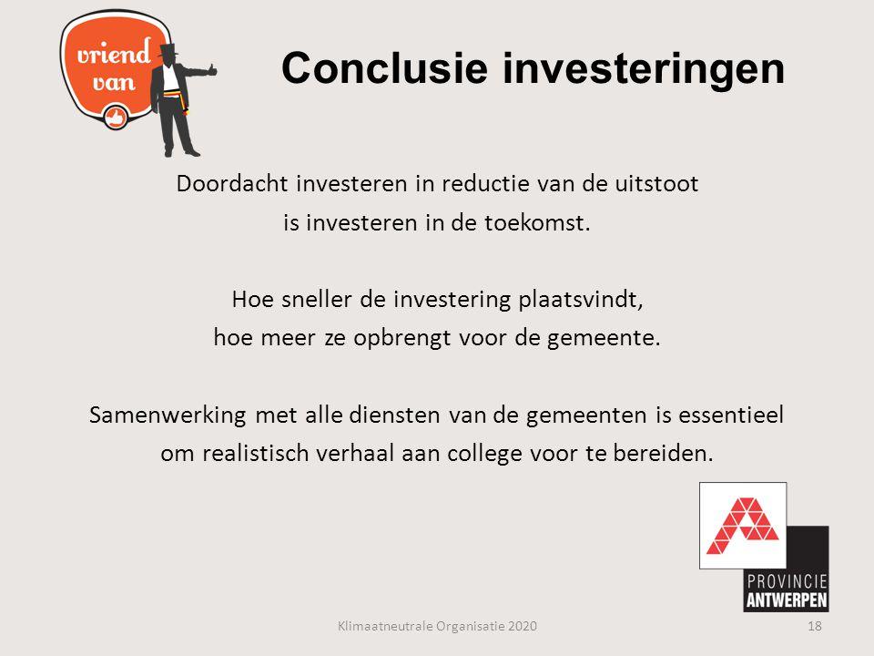 Conclusie investeringen