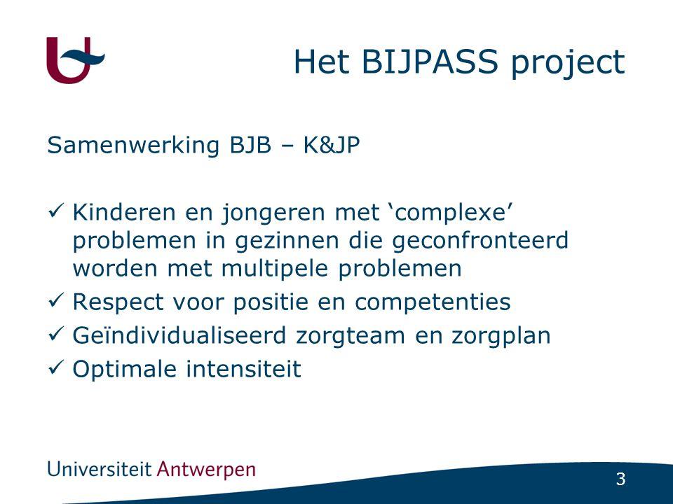 Het BIJPASS project Samenwerking BJB – K&JP