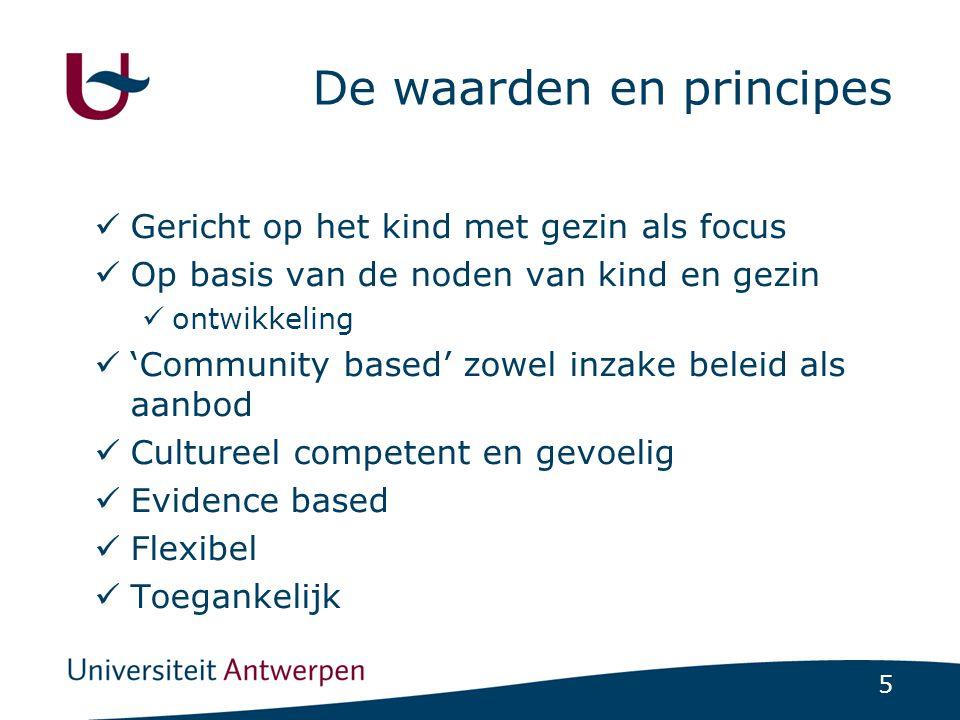 De waarden en principes