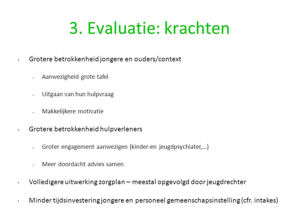 3. Evaluatie: krachten Grotere betrokkenheid jongere en ouders/context