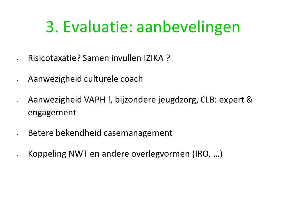3. Evaluatie: aanbevelingen