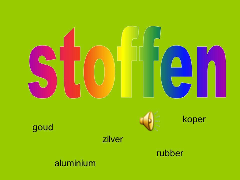 stoffen koper goud zilver rubber aluminium
