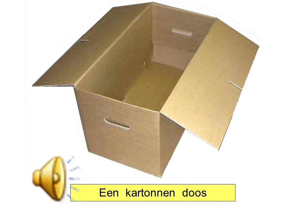 Een kartonnen doos