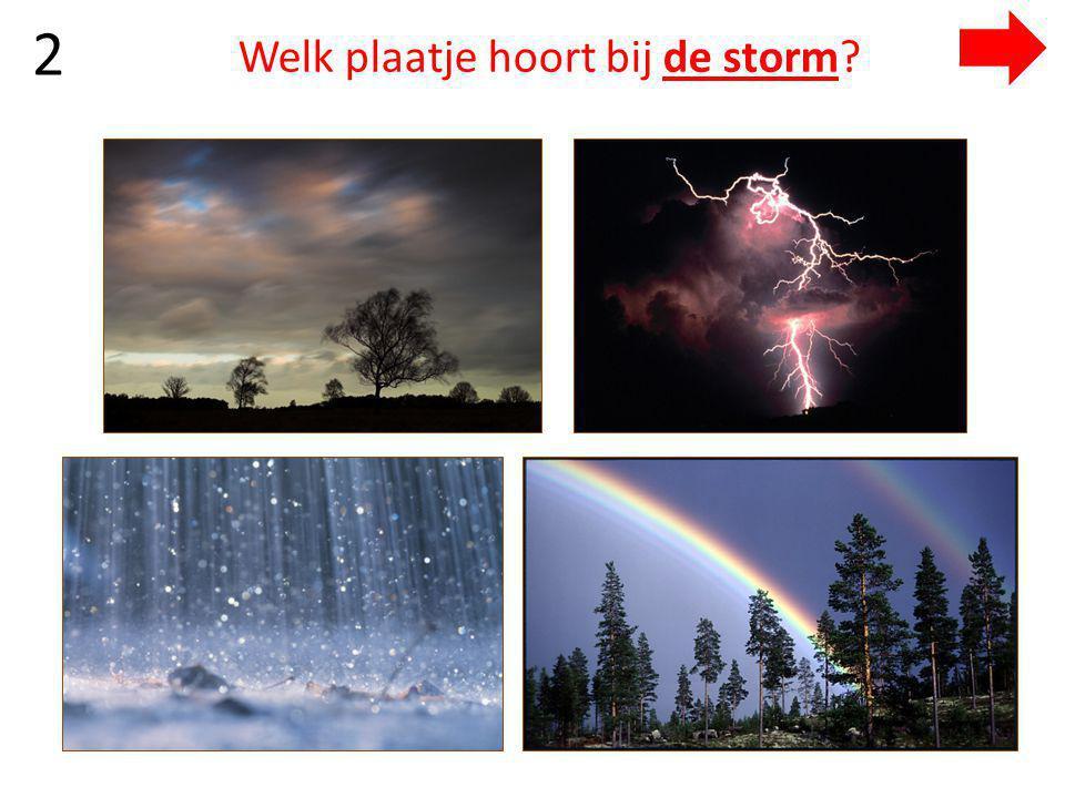 Welk plaatje hoort bij de storm