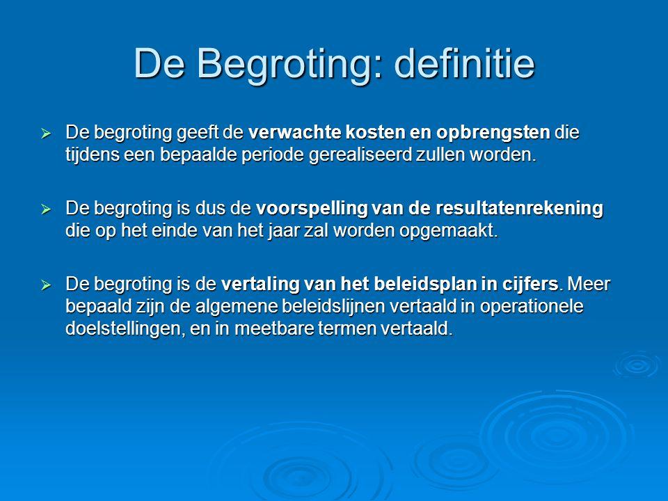 De Begroting: definitie