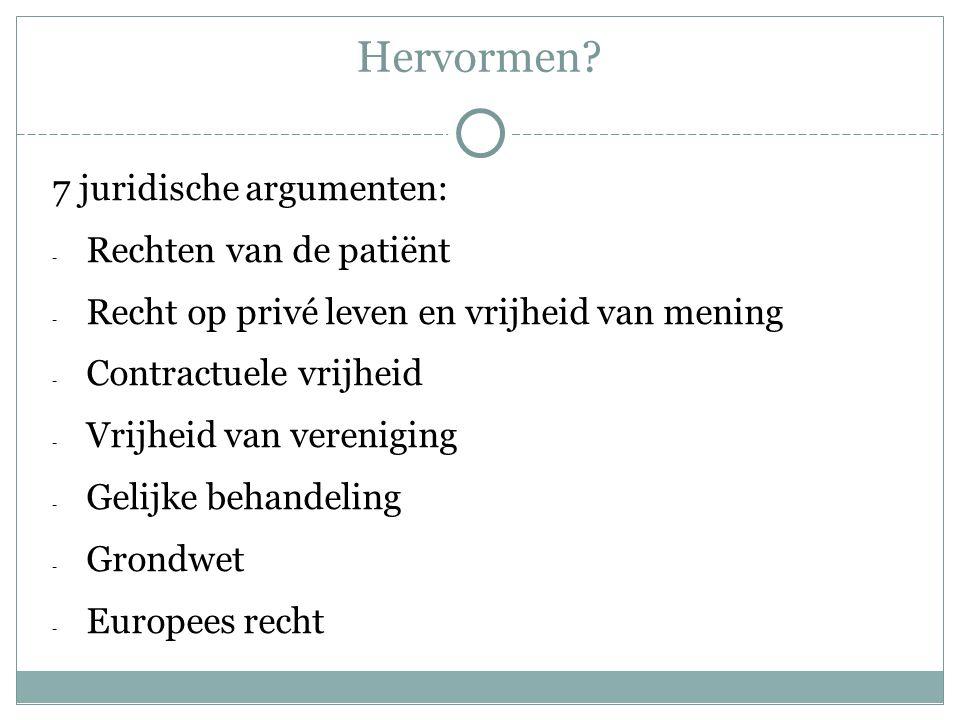 Hervormen 7 juridische argumenten: Rechten van de patiënt