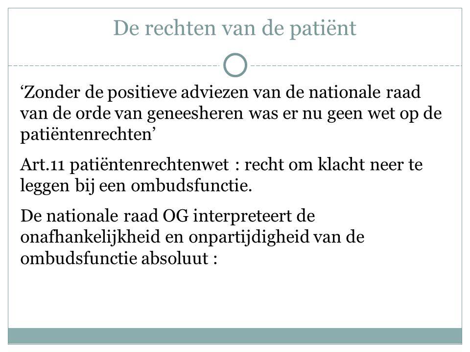 De rechten van de patiënt