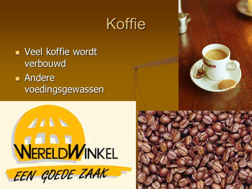 Koffie Veel koffie wordt verbouwd Andere voedingsgewassen