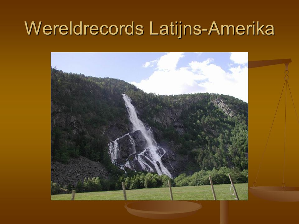 Wereldrecords Latijns-Amerika
