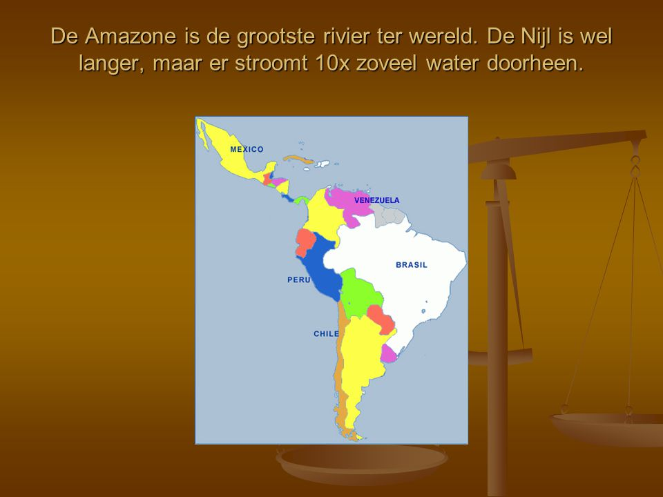De Amazone is de grootste rivier ter wereld